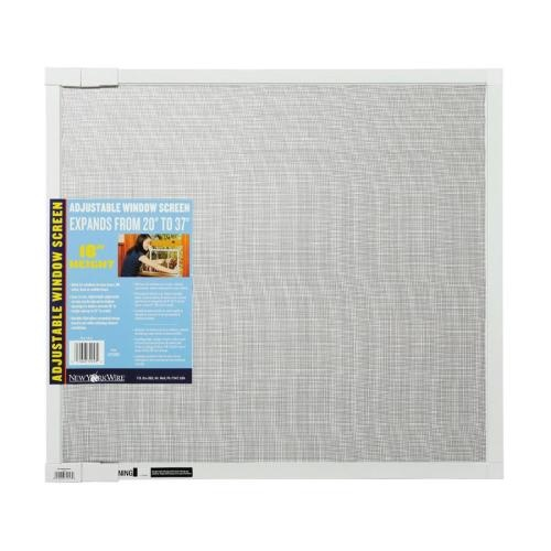 "Zoomed: New York Wire 18"" x 37"" Adjustable Window Screen White"