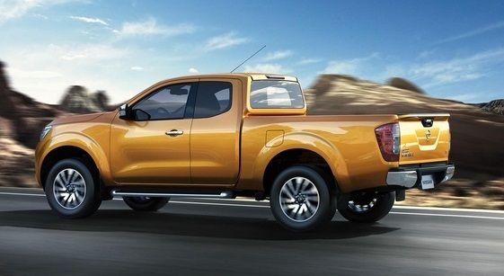 Side view of #Nissan #Navara #PickupTruck 2015 in motion. New Model Nissan Navara NP300 Bangkok, Thailand available for export at Jim Autos Thailand http://toyota-dealer.org/2015-nissan-navara-np300.html