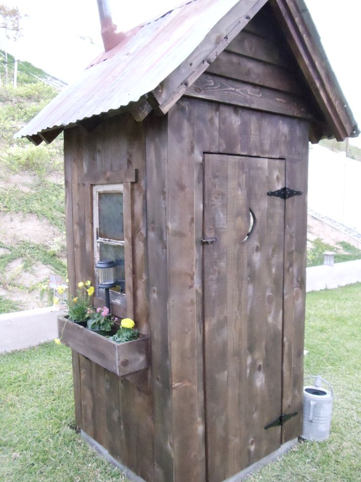 more of the outhouse