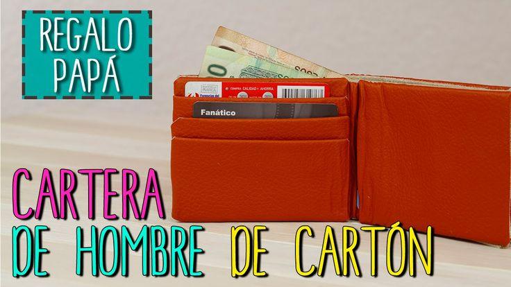Cartera Para Hombre Reciclada - Cartera De Cartón - Cómo hacer Billetera...