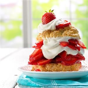 Grandma's Old-Fashioned Strawberry Shortcake Recipe -This is my grandma's shortcake recipe, although she always served it with vanilla ice cream—usually homemade! —Angela Lively, Conroe, Texas **