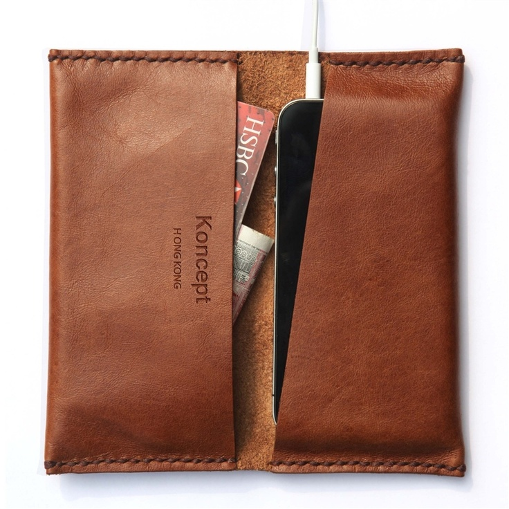 iPhone wallet (Chocolate brown)