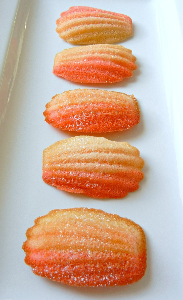 Wedding Dessert:  Orange ombre madeleines are too cool.
