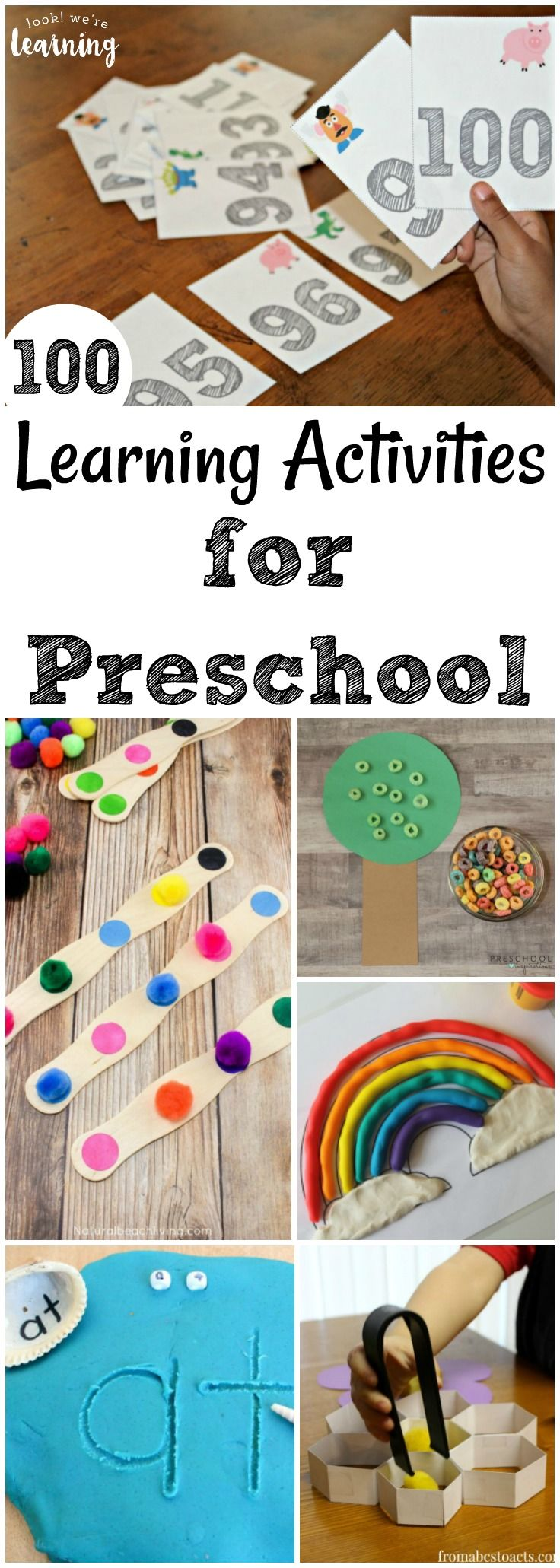 Share some of these fun and hands-on learning activities for preschoolers with your little ones! #preschool #kidactivities #homeschooling