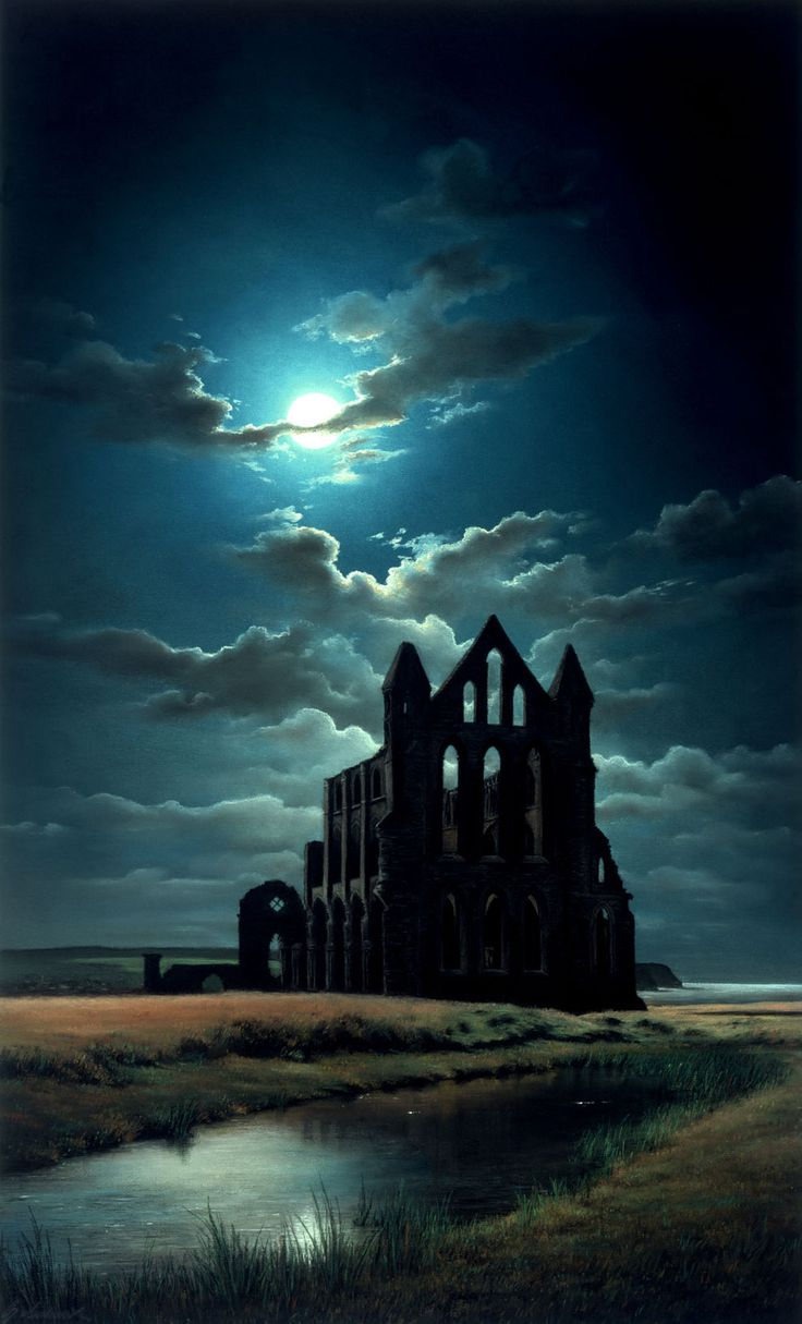 """""""Whitby Abbey"""" by Anne Sudworth   13 Things That Prove Gothic Art Is Enchanting And Beautiful"""