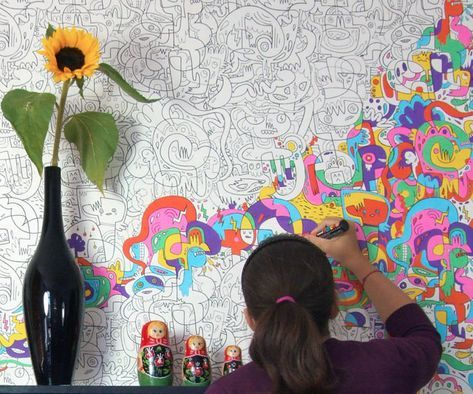 Color-in Wallpaper in 2018   Bell my love ♡   Pinterest   Colorful ...