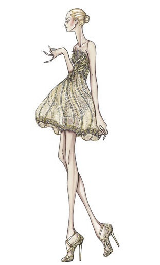 Princess-like silhouette