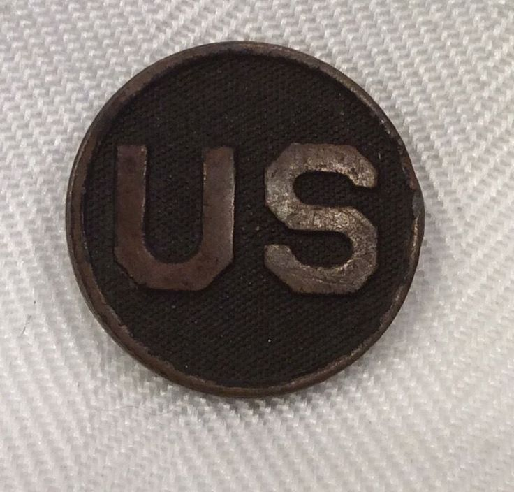 Large 1 Quot Bronze Us Army Quot Us Quot Screw Back Lapel Pin Military