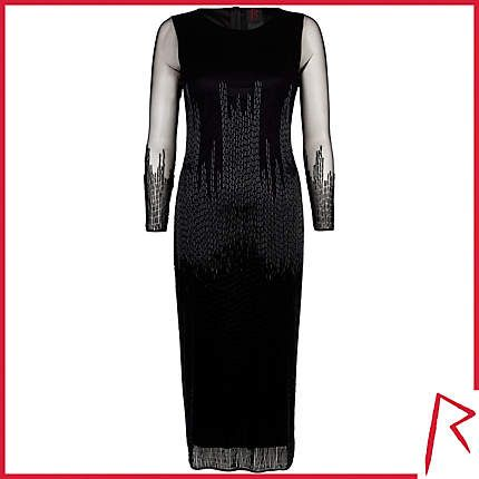 #RihannaforRiverIsland LIMITED EDITION Black Rihanna bugle beaded midi dress. #RIHpintowin click here for more details >  http://www.pinterest.com/pin/115334440431063974/