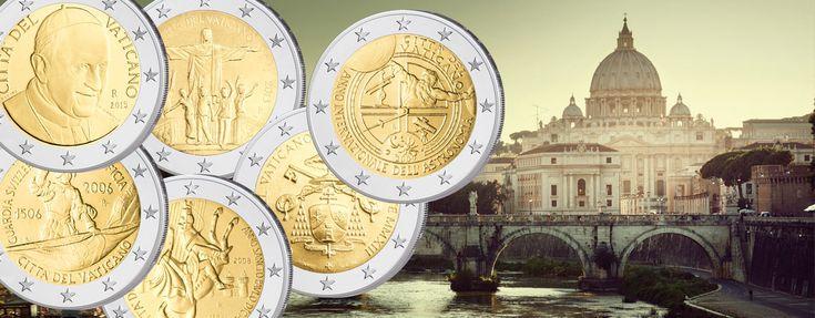 Die verschiedenen Jahrgänge der Kursmünzen des Vatikan und Motive der 2 Euro-Sondermünzen kaufen Sammler weltweit - hier finden Sie einen Überblick über die Vatikan 2 Euro-Münzen, welche bisher unter den Päpsten Johannes Paul II., Benedikt XVI. und Franziskus geprägt wurden.  Vatikan: 2 Euro-Kursmünzen und 2 Euro-Gedenkmünzen 2004 bis heute im Überblick. Motive, Themen, Informationen
