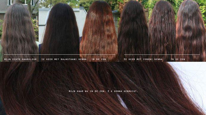 mijn bruine haar met henna
