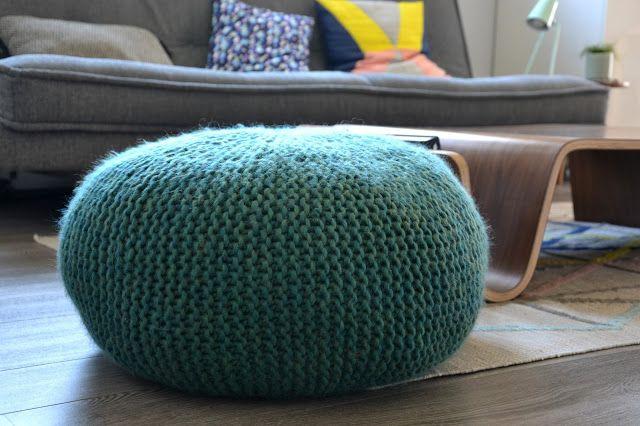 Tutoriel - Pouf en tricot / Knitted seat