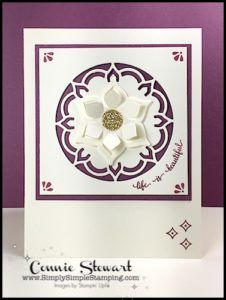 Make It Monday - Life is Beautiful CARD - download the FREE tutorial at www.SimplySimpleStamping.com - look for the May 1, 2017 blog post! http://amzn.to/2sNPLmB