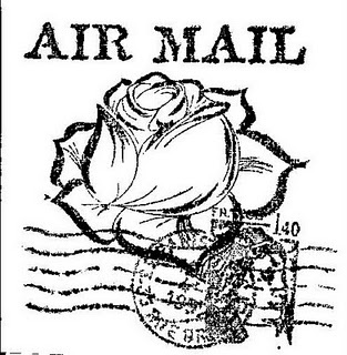 .Air Mail  - black and white