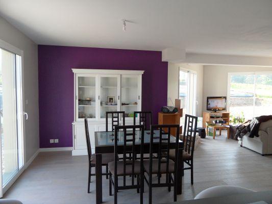Peinture grise et violet pour salon-séjour & cuisisne... (6 messages) - ForumConstruire.com