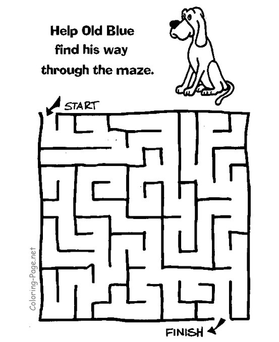 Kids maze games and printable channel mazes Coloring