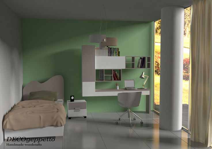 Σύνθεση παιδικού δωματίου σε διαφορετικούς συνδυασμούς χρωμάτων , λάκας