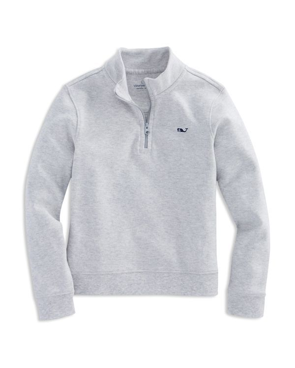 A great layering piece, this quarter-zip pullover from Vineyard Vines is crafted from soft cotton jersey for supreme comfort. | Pima cotton | Machine wash | Imported | Fits true to size | Stand collar
