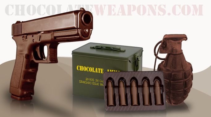 Chocolate Ammo, Chocolate Guns & More - www.ChocolateWeapons.com