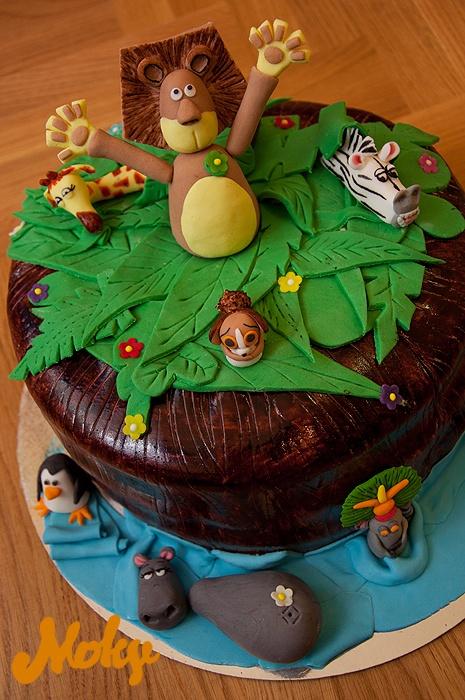 #madagascar #fondant #cake Fondant Decorations by Moky ...