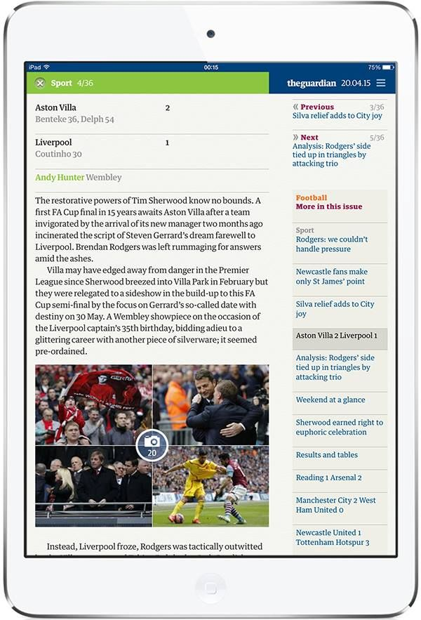 The Guardian for iPad. More on www.magpla.net MagPlanet #TabletMagazine #DigitalMag