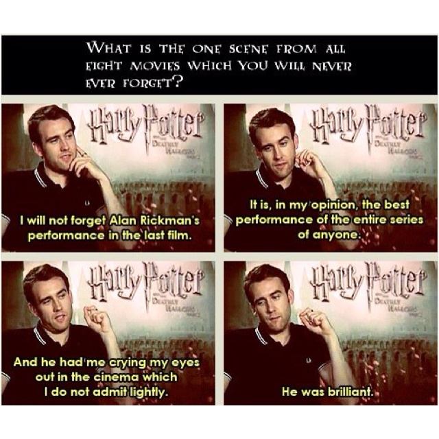 Matthew Lewis on Alan Rickman, Harry Potter.