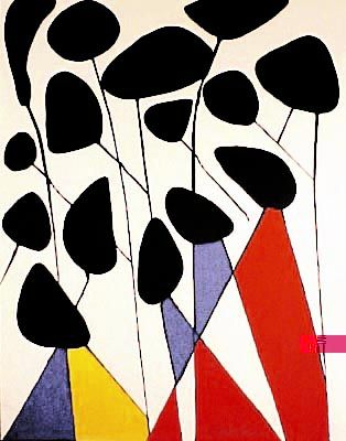 Alexander Calder    Les Fleurs II  Medium: Lithograph   Size: 25 x 20 in.   Year: 1974