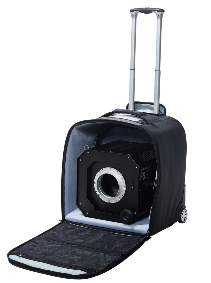 The Protec Rolling Case for the new Fresnel Spot of Elinchrom