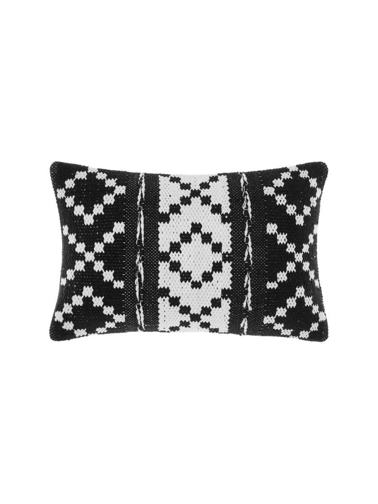 ISABEL CUSHION WHITE/BLACK 40X60CM CUSHIONS ONLINE