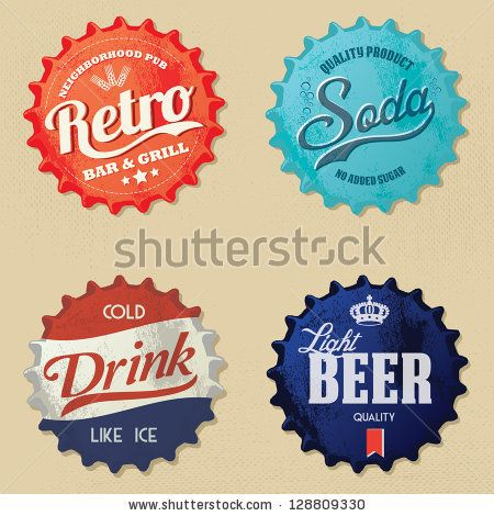retro bottle caps