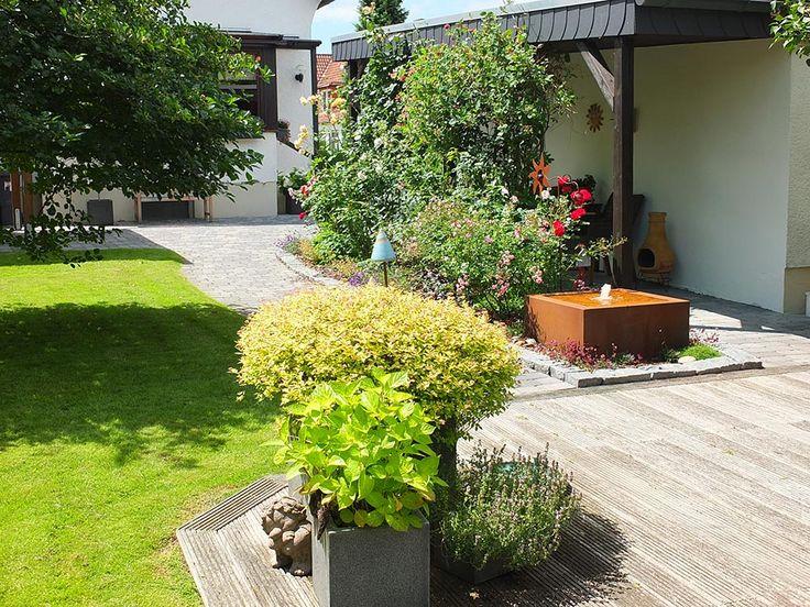 64 best Referenzen Garten Brunnen, Terrassenbrunnen und GFK - edelstahl teichbecken rechteckig