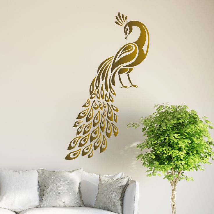 peacock wall sticker birds decal art livingroom vinyl on wall stickers for hall id=71706