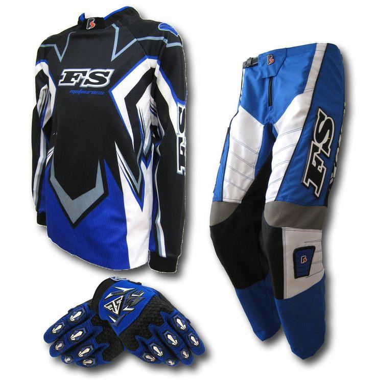 MX Motocross Youth Jersey+Pants+Gloves-Dirt Bike Gear/BMX/Off-road/Junior/Kids