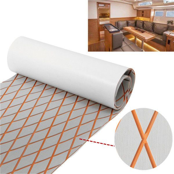 Orange Marine Flooring Faux Teak EVA Foam Boat Decking Sheet Brown 190x60cm Pad #MarineFlooring
