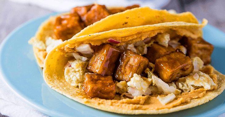 vegan smoky tofu tacos with slaw