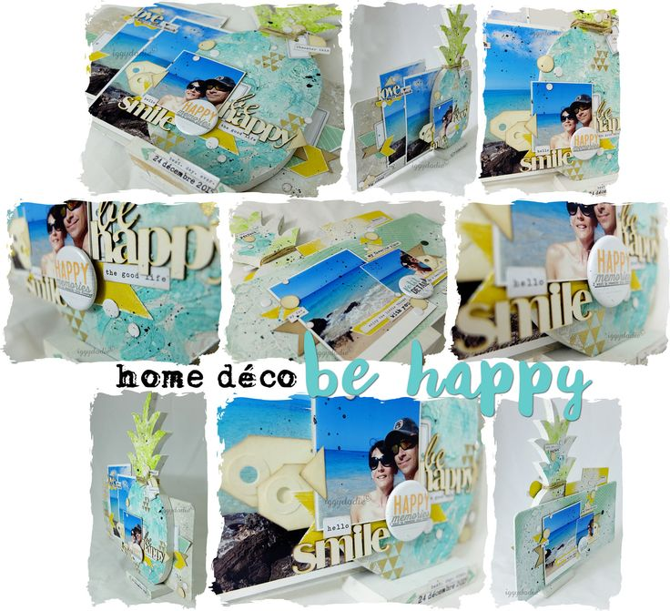 """Home déco """"Be Happy"""" (Ananas)"""