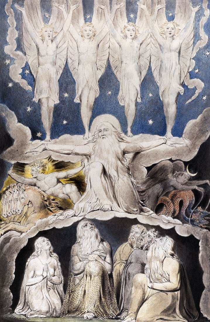 """""""When the Morning Stars Sang Together"""" by  William Blake (1820)"""
