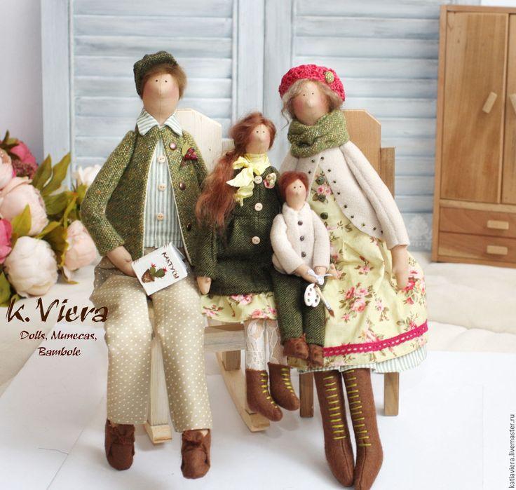 Купить Тильда семья портретная кукла - тильда, кукла ручной работы, кукла Тильда