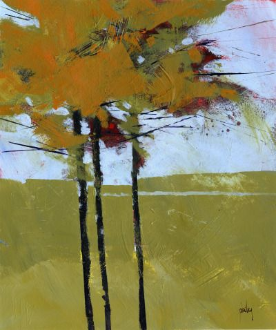 Golden spruce by Paul Bailey    Via Flickr: Acrylic on paper 10 x 12 inches 2015