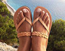 cuir sandales, sandale grecque, Sandales femme, sandales de mariage