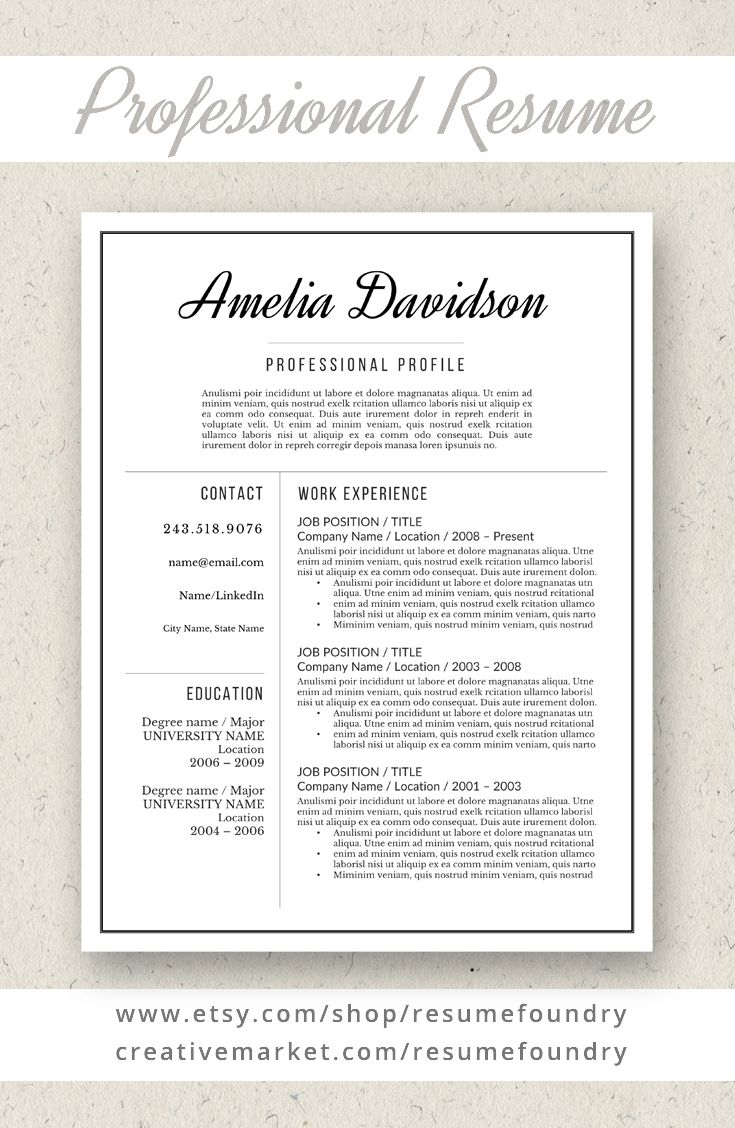 90 Best Professional Resumes From Resume Foundry Images On