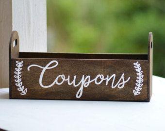 Coupon holder, Coupon organizer desk set, farmhouse decor, gift for women, desk top letter organizer, office organizer, mail box