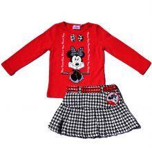 Set fusta-bluza Minnie - rosu/negru/alb