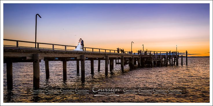 Love birds Monique and Tim on that world famous jetty! @kingfisherbay