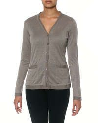 G Couture Raw Edge Cardigan