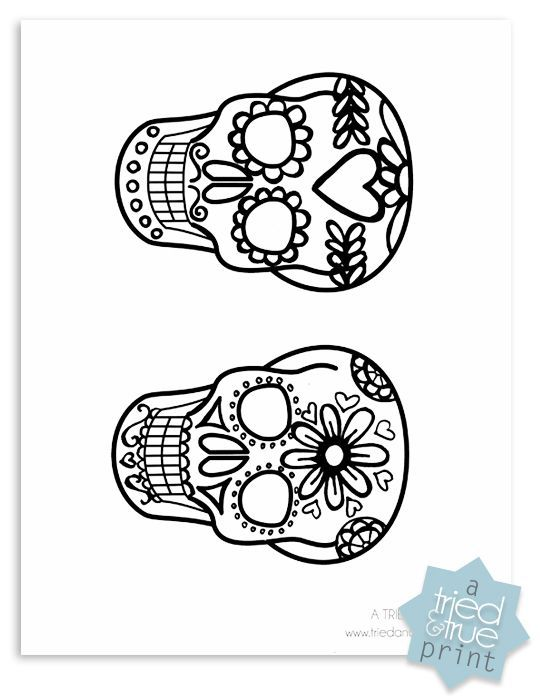Day of the Dead Shrink Plastic Jewelry - Printable