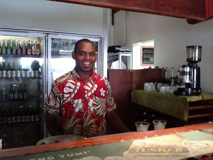 How about an icy cold Tusker Beer ? asks Roy from our bar.. :