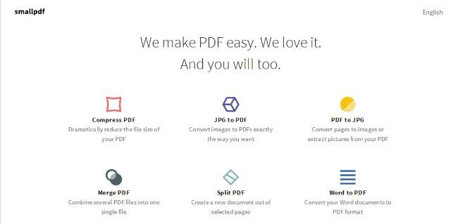 Small PDF - We make PDF easy. We love it. And you will too.