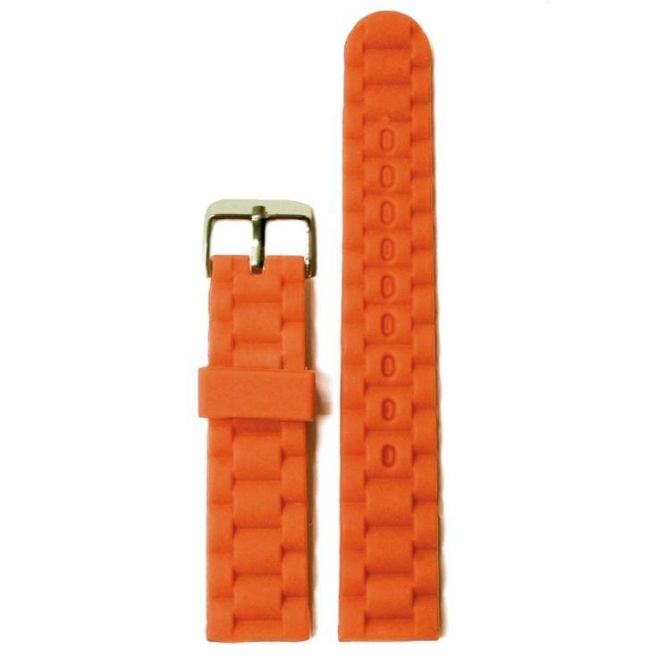 Gelatina del silicone 20 millimetri di Halloween arancione in gomma unisex Watch Band cinghie WB1060H20JB