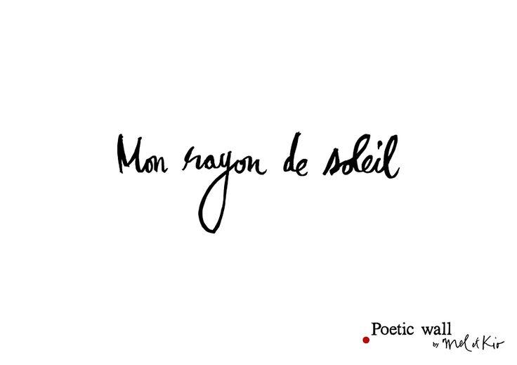 Sticker dessin - Mon rayon de soleil - Poetic wall® - Visuel 1